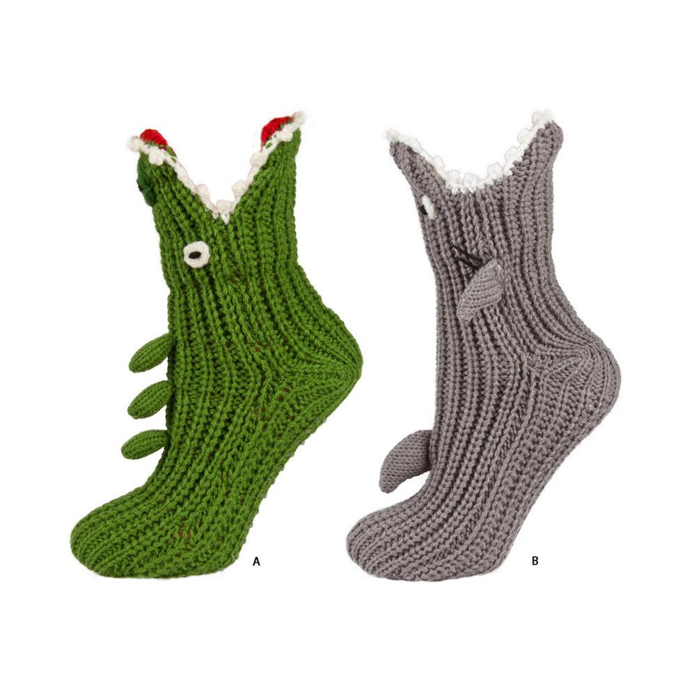 Soxo Childrens Crocodile Shark Socks Kids Slippers
