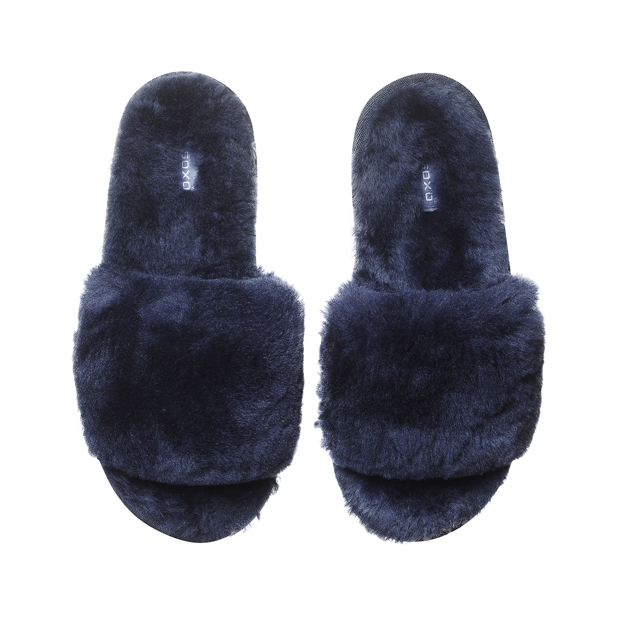 786708cac SOXO Women's slippers sheepskin navy blue | Slippers \ Classic NEW ...