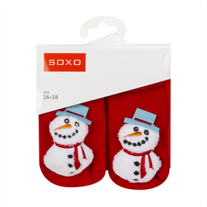 SOXO Infant socks with rattle PREMIUM