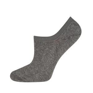 SOXO Men's dark grey footies with silicon on heel