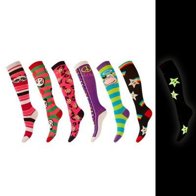 Children's knee highs SOXO glowing in the dark - colorful patterns