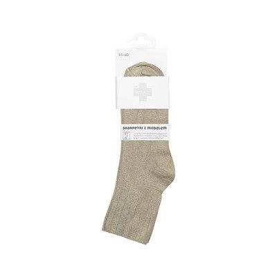 DR SOXO women's socks with modal - beige