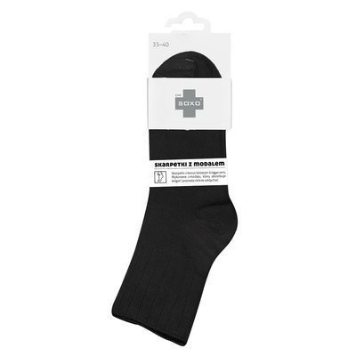 DR SOXO women's socks with modal - black