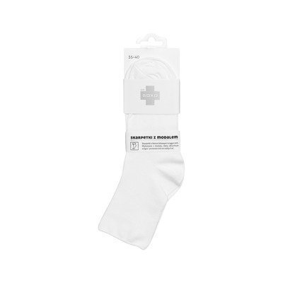 DR SOXO women's socks with modal - white