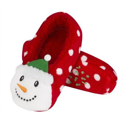 "SOXO Women's Christmas slippers 3D - ""Snowman"""