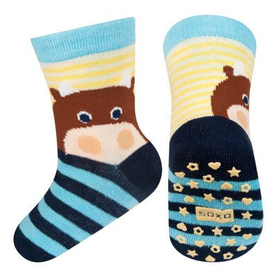 SOXO baby socks with abs - COW