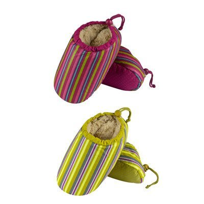 SOXO women's slippers with duck feathers and ABS - colorful stripes