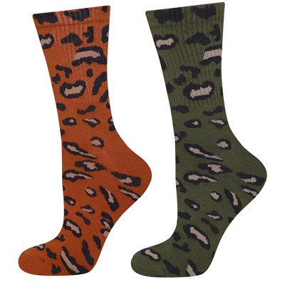 SOXO women's socks with panther - 2 pack