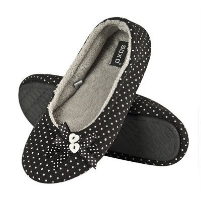 Women's slippers BALLERINS SOXO with buttons - black