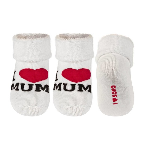 SOXO Infant socks I LOVE MUM I LOVE DAD