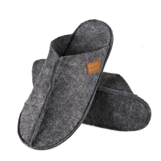 SOXO Men's felt slippers