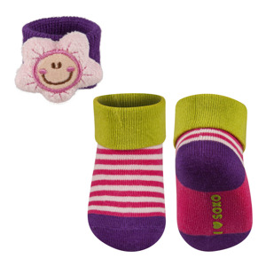 SOXO Baby Set: Socks + wristband with a plush toy