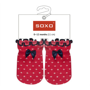 SOXO Infant anti-scratch mittens - colored MIX