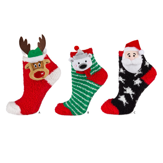 bc91bd754e3 SOXO Chenille socks Christmas collection
