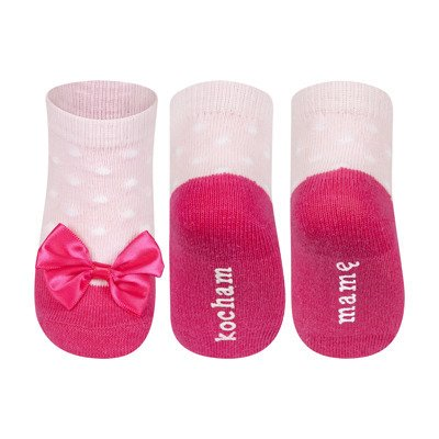 "Baby socks BALLERINAS SOXO with a bow - ""Kocham Mamę"""