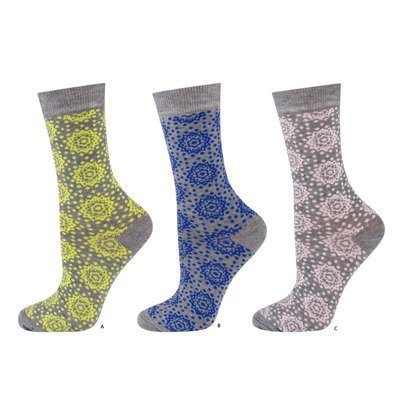 DR SOXO Women's bamboo socks in pretty paterns