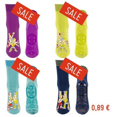FOOTBALL SOXO Children's socks with silicone soles - 6 pairs