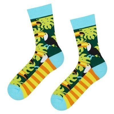 Good Stuff Women socks witch toucans