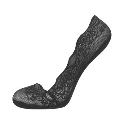 "Ladies footies SOXO ""flowers "" lace - black"
