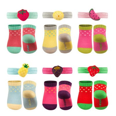 "SOXO Baby Set: Socks + Headband - ""Fruits"""