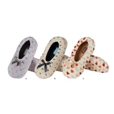 SOXO Ballerina slippers with pattern and soft sole