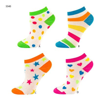 SOXO Children's colorful footies
