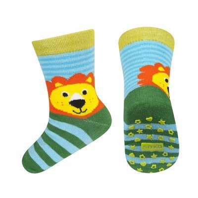 SOXO Children's socks with animals with ABS