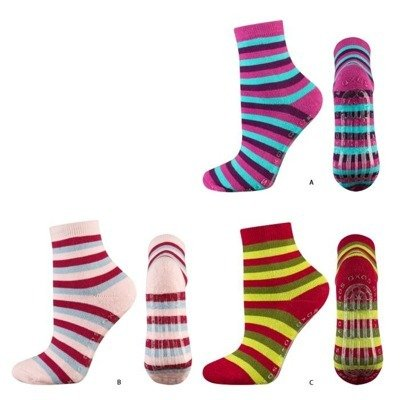 SOXO Children's striped socks with silicone sole