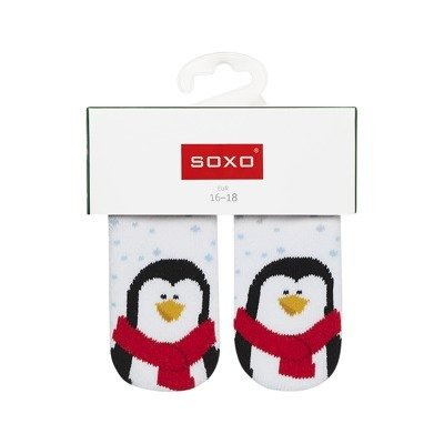 SOXO Christmas baby socks 'Penguin'