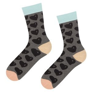 SOXO GOOD STUFF socks - black hearts
