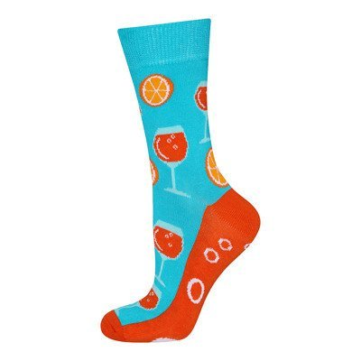SOXO GOOD STUFF women's socks - drink and oranges