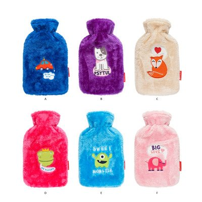 SOXO Hot water bottle with fur cover