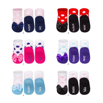 SOXO Infant ballerina socks MAMA TATA (polish text)