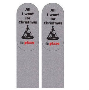 "SOXO Men's socks with text ""... pizza"""