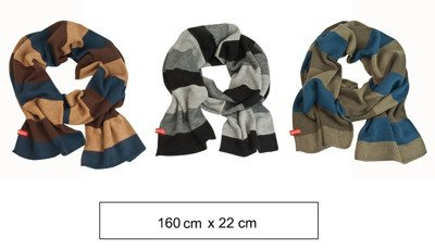 SOXO Men's striped scarf MIX