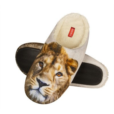 SOXO Photo slippers with lion