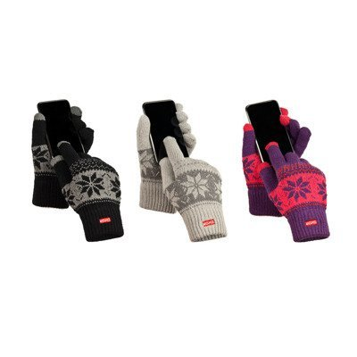 SOXO Touchscreen gloves with patterns