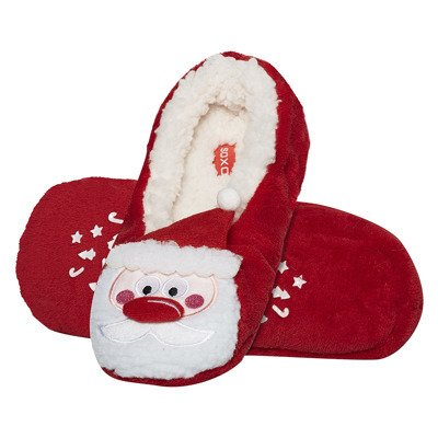 "SOXO Women's Christmas slippers 3D - ""Santa Claus"""