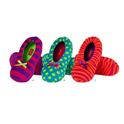 SOXO Women's ballerina slippers in neon colors