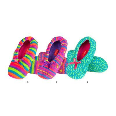 SOXO Women's ballerina slippers neon coloured
