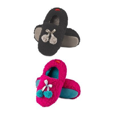 SOXO Women's ballerina slippers with pompons