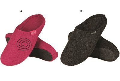 SOXO Women's felt slippers with embroidery and TPR
