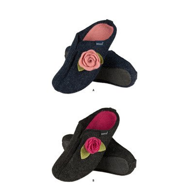 SOXO Women's felt slippers with flower and TPR