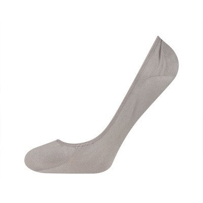 SOXO Women's grey footies with silicon on heel