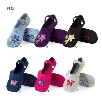 SOXO Women's knitted slippers with butterflies