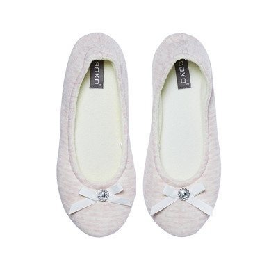 SOXO Women's pink ballerina slippers with hard sole