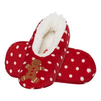 SOXO Women's plush ballerinas - Christmas cookie