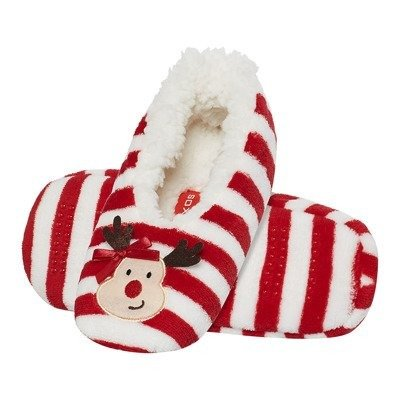 SOXO Women's plush ballerinas - Christmas/reindeer
