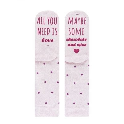 "SOXO Women's socks ""All you need is Love"""