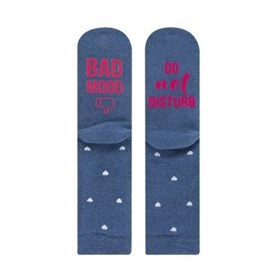 "SOXO Women's socks ""Bad mood, do not disturb"""